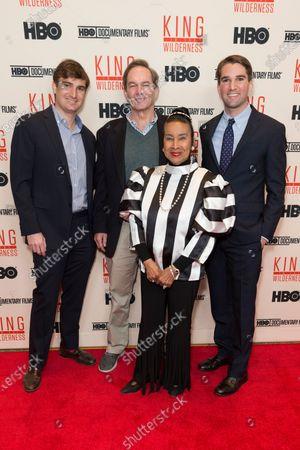 George Kunhardt, Peter Kunhardt, Xernona Clayton, Teddy Kunhardt attend King in the wilderness New York Screening at Riverside Church