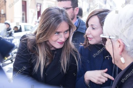Italian politic Maria Elena Boschi  Funeral of the Italian showman Fabrizio Frizzi, who died in the night between Sunday and Monday at the Sant'Andrea Hospital in Rome