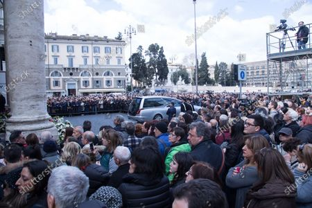 Funeral of the Italian showman Fabrizio Frizzi, who died in the night between Sunday and Monday at the Sant'Andrea Hospital in Rome