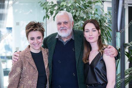 """Italian director Marco Tullio Giordana with italian actresses Cristiana Capotondi and Michela Cescon  Photocall in Rome of the movie """"Nome di Donna"""""""