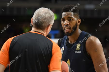 Jason Thompson,  #1 of Fenerbahce pictured during the 2017/2018 Turkish Airlines EuroLeague Regular Season Round 24 game between Real Madrid and Fenerbahce Dogus Istanbul at WiZink center in Madrid.