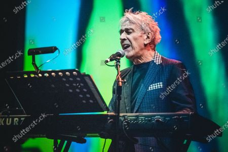 Stock Image of The Welsh musician, composer, singer, songwriter and record producer John Cale performing live on stage at the Officine Grandi Riparazioni (OGR) in Torino, for his single Italian concert.