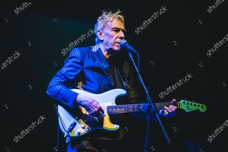 Stock Photo of The Welsh musician, composer, singer, songwriter and record producer John Cale performing live on stage at the Officine Grandi Riparazioni (OGR) in Torino, for his single Italian concert.