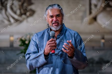 In anticipation of the upcoming hearing of his First Amendment case against Immigration and Customs Enforcement (ICE), Ravi Ragbir, executive director of the New Sanctuary Coalition of New York City, gave a sermon on March 4, 2018; at Judson Memorial Church and led a symbolic ribbon-tying ceremony outside of Judson Memorial Church, to express solidarity with the thousands of immigrants who are incarcerated and hidden in immigration jails around the United States, separated from their families, friends and communities.