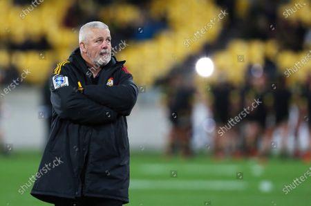 Hurricanes vs Chiefs. Chiefs' Head Coach Warren Gatland
