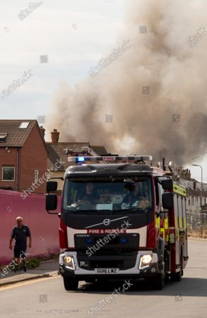 Editorial picture of Fire at a fisheries warehouse at the Port of Newhaven, Sussex, Brighton, UK - 08 Aug 2020