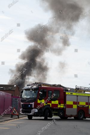 Editorial image of Fire at a fisheries warehouse at the Port of Newhaven, Sussex, Brighton, UK - 08 Aug 2020