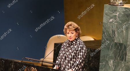 Geraldine Byrne Nason, chair of the 62nd Commission on Women. International Women's Day 2018 was observed at the United Nations with a series of talks starting with UN Secretary-General Antonio Guterres and moderated by WABC newscast Sade Baderinwa. Highlights included Australian foreign minister Julie Bishop & activist Monica Ramirez, President of Alizana Nacional de Campesinas.