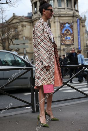Editorial image of Street Style, Fall Winter 2020, Paris Fashion Week, France - 06 Mar 2018