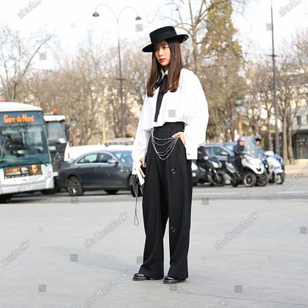 PARIS- 06 March 2018 Ki Eun-Se on the street before the Chanel show during the Paris Fashion Week