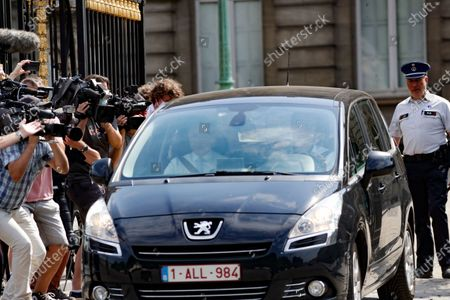 Belgium Negotiators for the formation of federal government, Bart De Wever (L) the Leader of New Flemish Alliance (Nieuw-Vlaamse Alliantie, N-VA) party leaves royal palace after a meeting with King Philippe in Brussels, Belgium, 08 August 2020. The meeting takes place for the formation of a new government. Belgium is gripped in longest political crisis in history of the country with 596 days without formal Government. The last formal government led by prime minister Charles Michel was falling on 21 December 2018.