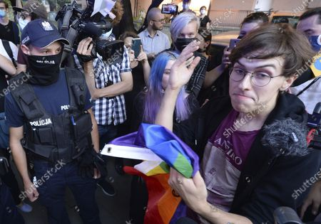 Editorial photo of LGBT Protest, Warsaw, Poland - 07 Aug 2020