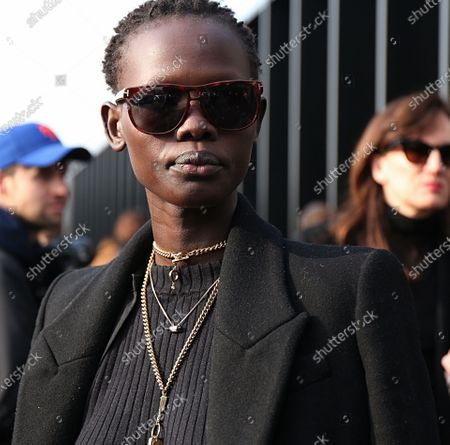 MILAN- 21 February 2018 Shanelle Nyasiase on the street after the Gucci show during the Milan Fashion Week