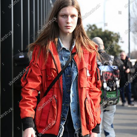 Editorial picture of On the street of Milan, Italy - 21 Feb 2018
