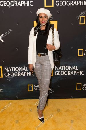 Nina Davuluri attends National Geographic world premiere screening of One Strange Rock at Alice Tully Hall