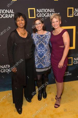 Mae Jemison, Nicole Stott, Peggy Whitson attend National Geographic world premiere screening of One Strange Rock at Alice Tully Hall