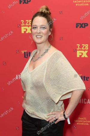 Stock Photo of Polly Lee attends FX The Americans season 6 premiere at Alice Tully Hall Lincoln Center