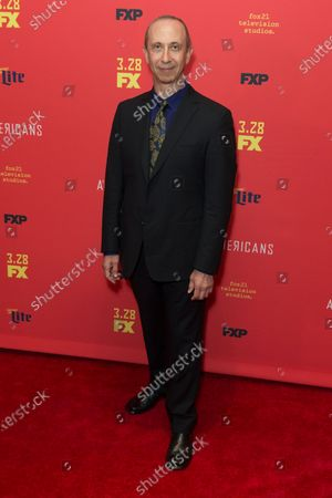 Stock Picture of Boris Krutonog attends FX The Americans season 6 premiere at Alice Tully Hall Lincoln Center