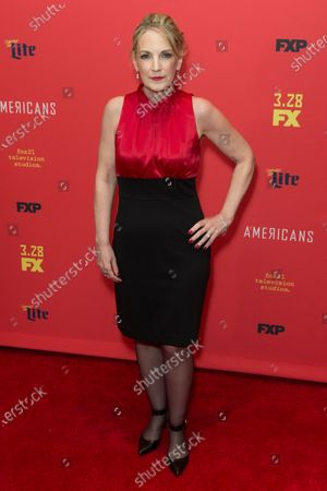Amy Tribbey attends FX The Americans season 6 premiere at Alice Tully Hall Lincoln Center