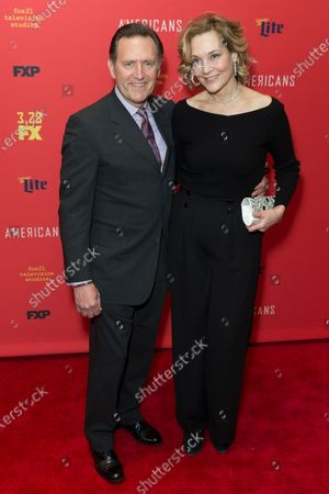 Victor Slezak and Leslie Slezak attend FX The Americans season 6 premiere at Alice Tully Hall Lincoln Center