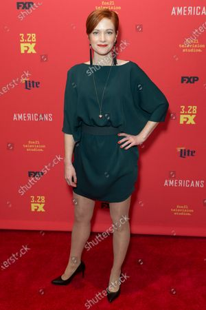 Suzy Jane Hunt attends FX The Americans season 6 premiere at Alice Tully Hall Lincoln Center