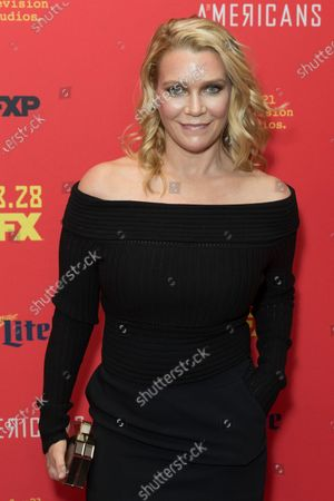 Laurie Holden attends FX The Americans season 6 premiere at Alice Tully Hall Lincoln Center