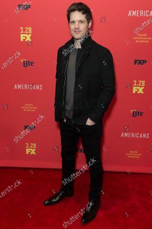 Michael Esper attends FX The Americans season 6 premiere at Alice Tully Hall Lincoln Center