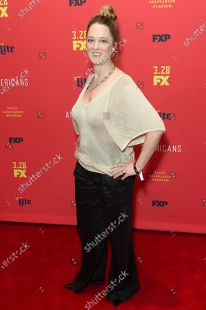 Polly Lee attends FX The Americans season 6 premiere at Alice Tully Hall Lincoln Center