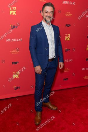 Stock Photo of Konstantin Lavysh attends FX The Americans season 6 premiere at Alice Tully Hall Lincoln Center