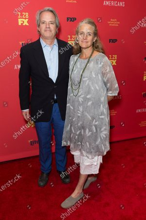 Graham Yost and wife Connie attend FX The Americans season 6 premiere at Alice Tully Hall Lincoln Center