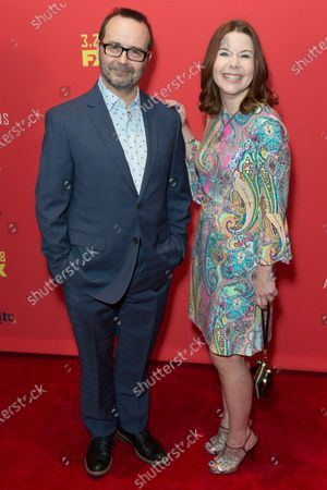 Stock Image of Todd Faulkner and Nicole Greevy attend FX The Americans season 6 premiere at Alice Tully Hall Lincoln Center