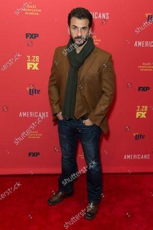 Michael Aronov attends FX The Americans season 6 premiere at Alice Tully Hall Lincoln Center