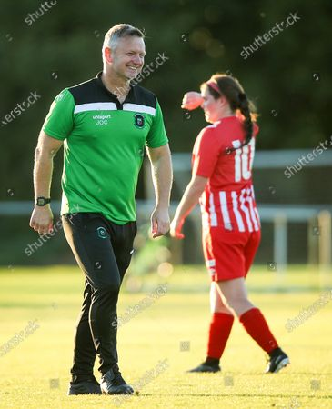 Stock Photo of Peamount United vs Treaty United. Peamount manager James O'Callaghan after the game