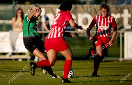 Peamount United vs Treaty United. Peamount's Stephanie Roche scores a goal