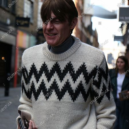 Ken Downing on the street during the London Fashion Week