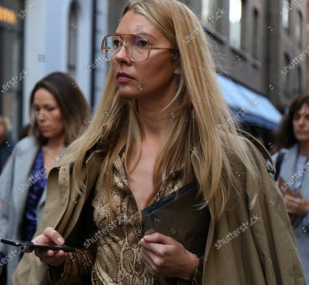 Stock Picture of Roberta Benteler on the street during the London Fashion Week
