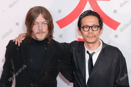 Stock Picture of Norman Reedus and Kunichi Nomura attend Isle of Dogs New York special screening at Metropolitan museum