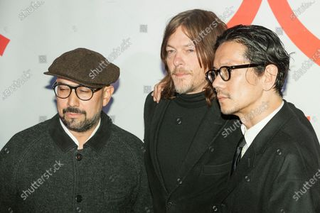 Shadi, Norman Reedus and Kunichi Nomura attend Isle of Dogs New York special screening at Metropolitan museum