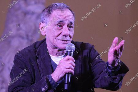 """Roberto Vecchioni,  Italian singer-songwriter Roberto Vecchioni, a guest in Naples at the """"FestivaLMANN"""" festival."""