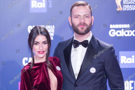 Alessandro Borghi and Roberta Pitrone  Red Carpet for the David di Donatello 2018 ceremony at the Studios in Rome