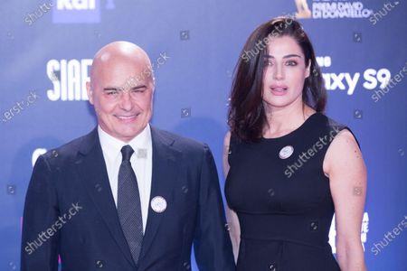 Luca Zingaretti and Luisa Ranieri  Red Carpet for the David di Donatello 2018 ceremony at the Studios in Rome