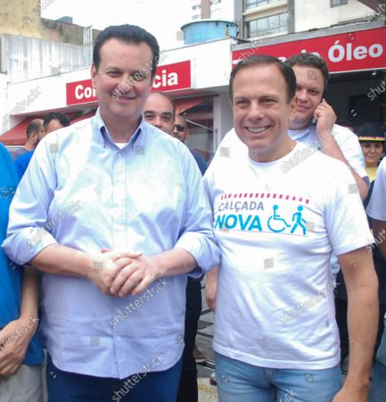Mayor of Sao Paulo city-Joao Doria (in white T.Shirt) with Gilberto kassab (in Blue shirt) Brazilian Minister of Science, Technology, Innovations & Communications during Brooklinfest-German festival