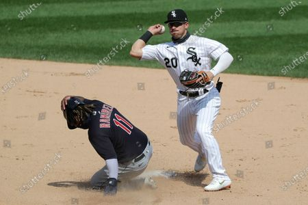 Editorial picture of Indians White Sox Baseball, Chicago, United States - 08 Aug 2020
