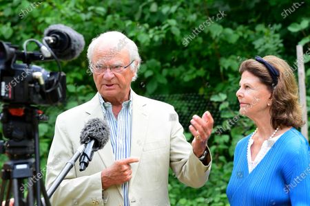 "King Carl Gustaf and Queen Silvia present the various prizes for best ""Idea Gardens"" 2020 at Solliden Palace park"
