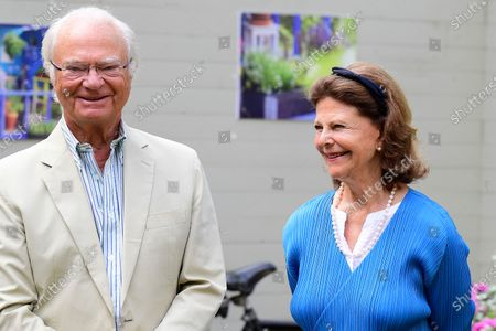 Editorial photo of King Carl Gustaf and Queen Silvia, Borgholm, Sweden - 08 Aug 2020