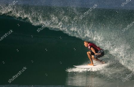 Kelly Slater competes in the Oi Rio Pro World Surf League event at Barra da Tijuca beach in Rio de Janeiro, Brazil. Professional surfers will be riding the waves again, for the first time since the coronavirus pandemic shut down the sport in March. The Surf Ranch in Lemoore, Calif., some 100 miles from the Pacific Ocean, will provide a perfect bubble for the World Surf League's Rumble at the Ranch featuring 16 surfers, including 11-time world champion Slater and Olympic qualifiers Kolohe Andino, Caroline Marks and four-time reigning world champ Carissa Moore