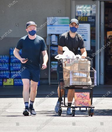 Editorial image of Jesse Tyler Ferguson and Justin Mikita out and about, Los Angeles, USA - 08 Aug 2020