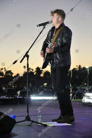 Ross Ellis performs at Concerts in Your Car at the Ventura County Fairgrounds, in Ventura, Calif