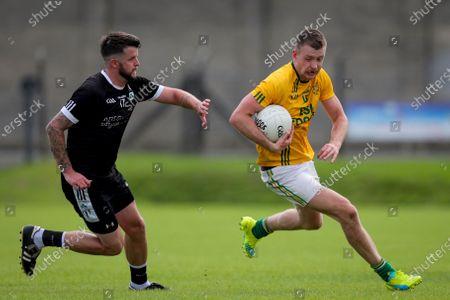 Dunlavin vs Newtown. Dunlavin's Stephen O'Brien with Glen Carthy of Newtown