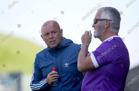 Faythe Harriers vs Shelmaliers. Faythe Harriers Coach Derek McGrath and manager Tony Walsh